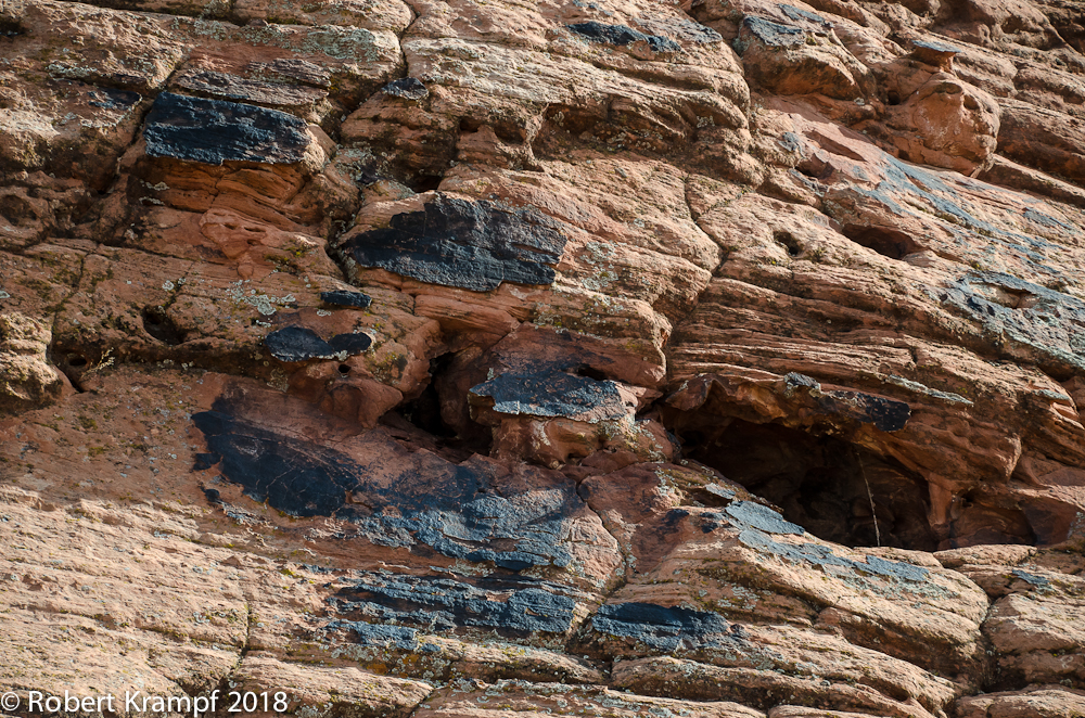 black spots on sandstone
