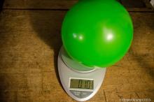 Balloon on scales