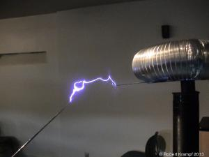 Sparks from Tesla coil